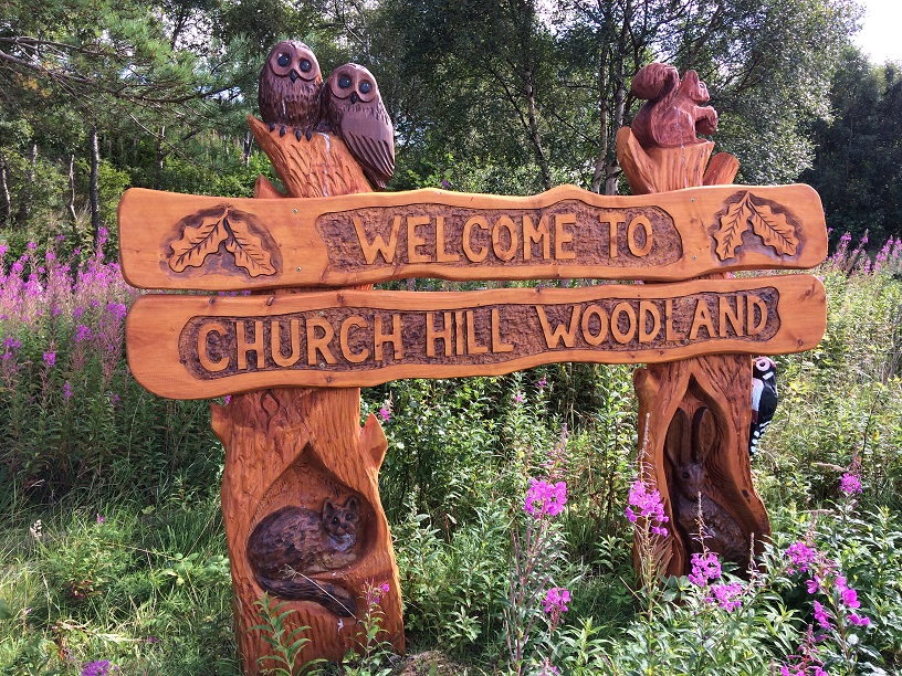 Photo of Church Hill Woodland sign
